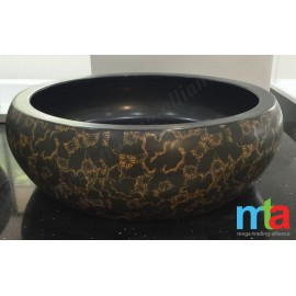 ABOVE COUNTER BASIN - DESIGNER BASIN / FLORAL BASIN ROUND