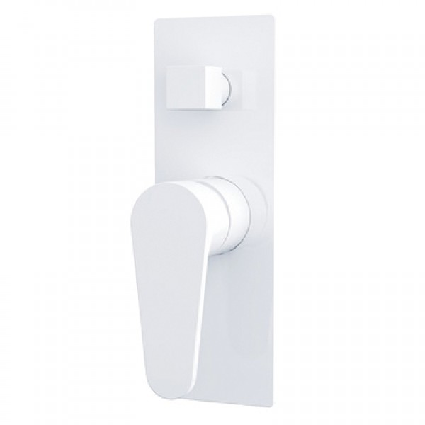 Victor Shower Mixer with Divertor White