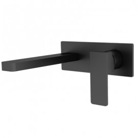 Celia Wall Basin Mixer Black (YSW3015-07A Black)